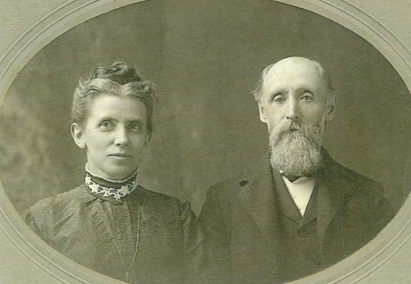 Alice and Caleb Jones in 1885.  The Joneses were a founding family of Grace with generations to follow.