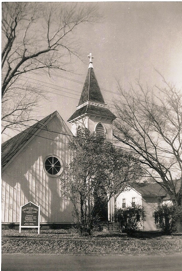 The church pictured here in the late 1950s, when Humphrey Dixon was the Vicar.