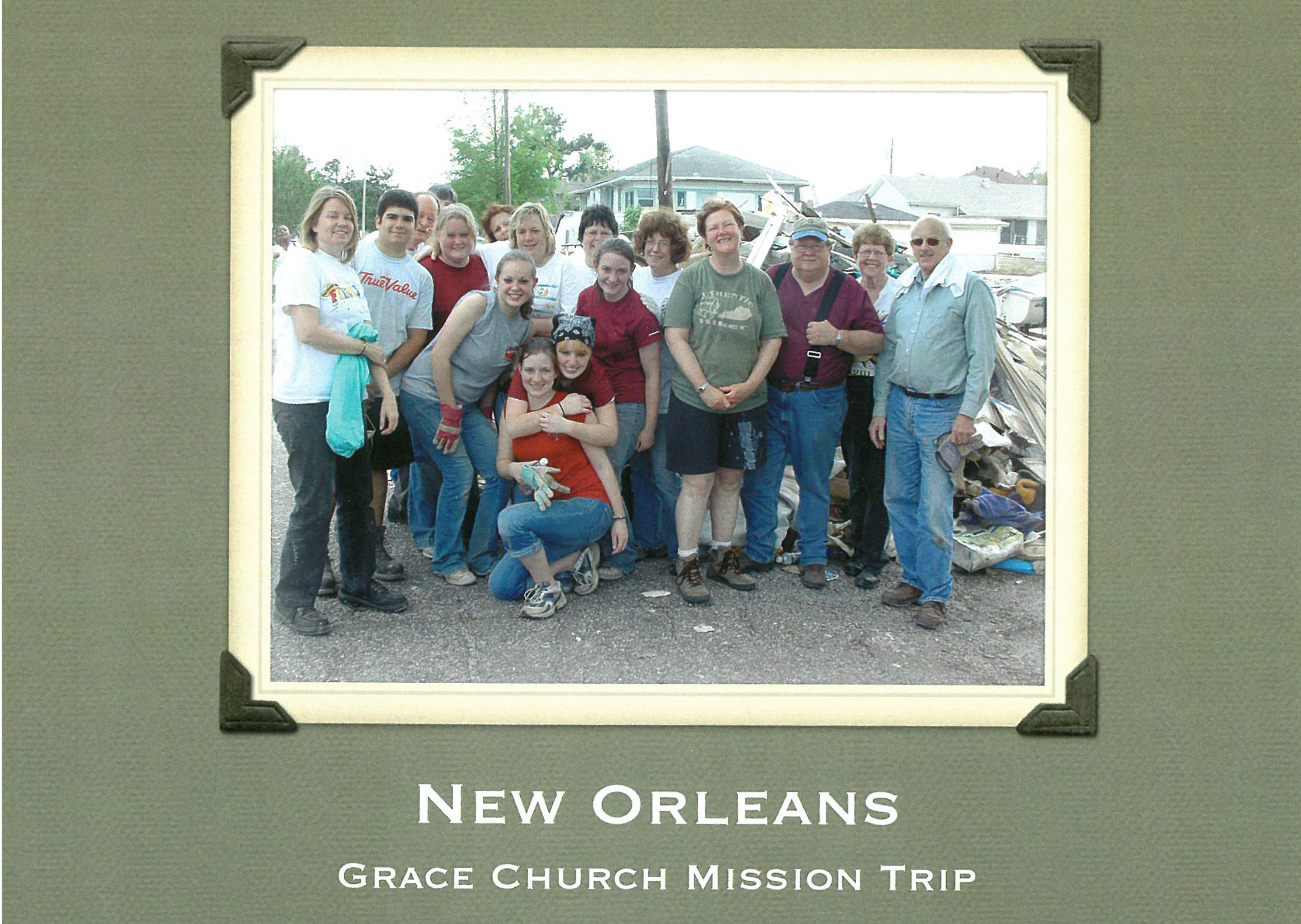 Front Facade of a Commemorative Booklet made by the missionaries to New Orleans in the Summer of 2007.