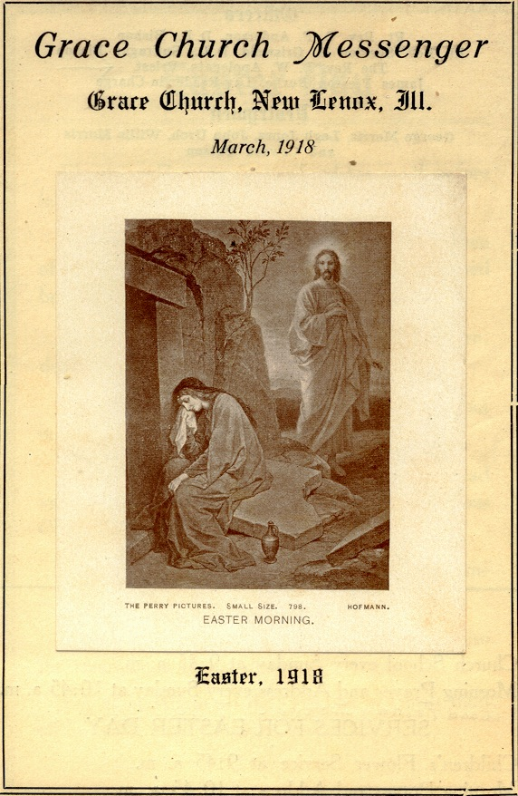 Service Leaflet from Easter, 1918.