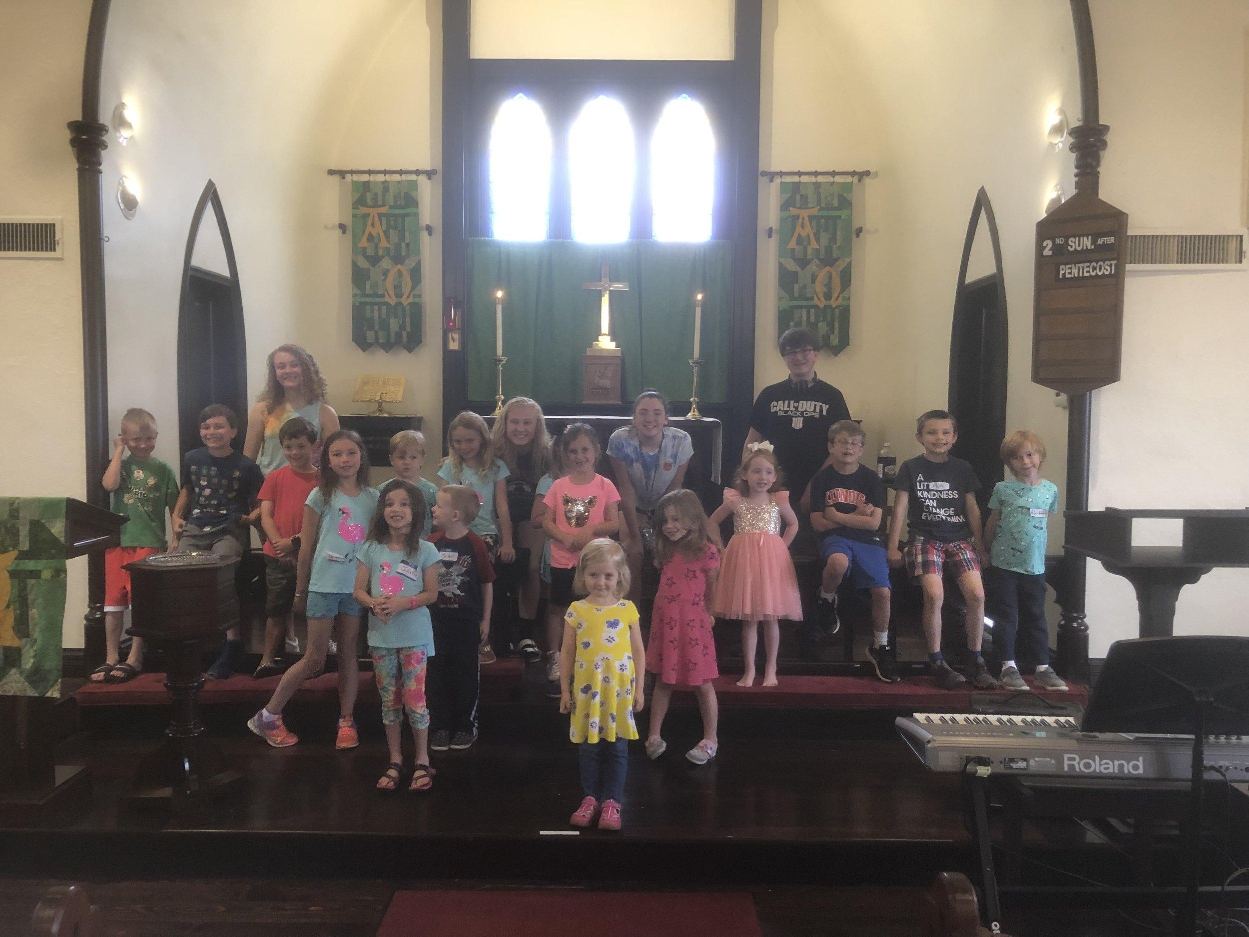 VBS 2019 - We had 18 children and four teen volunteers!