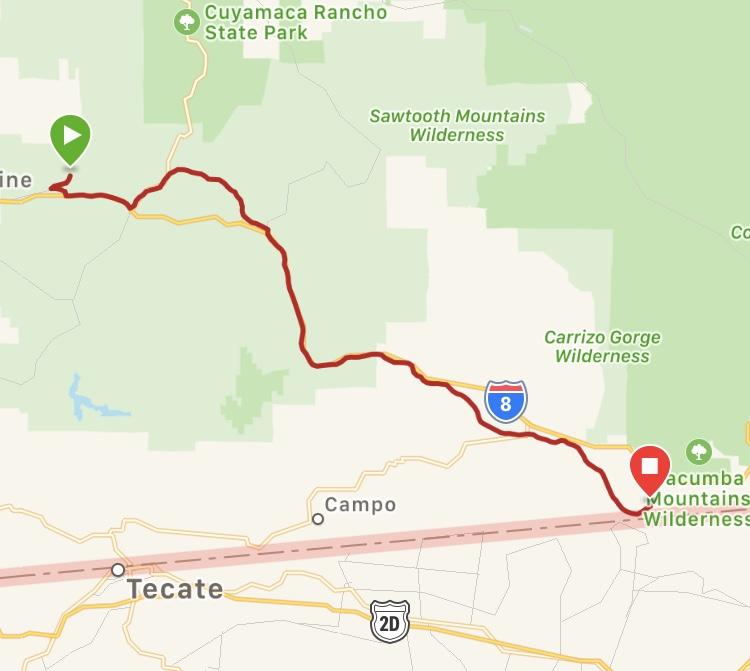 Our route for the day