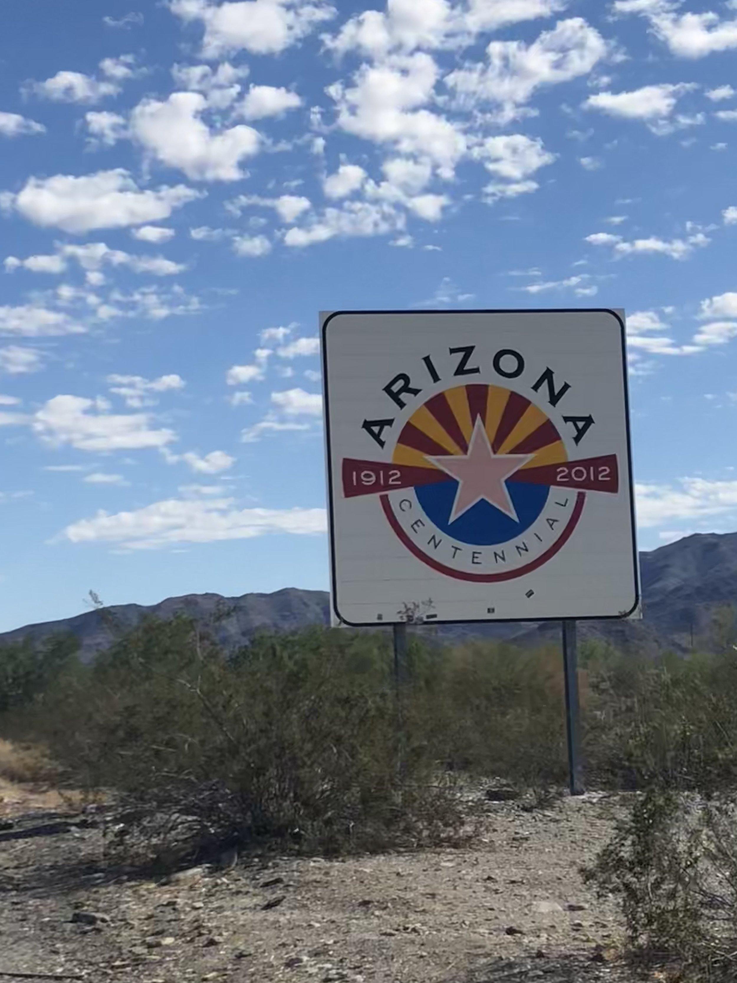 Crossing the boarder into Arizona.