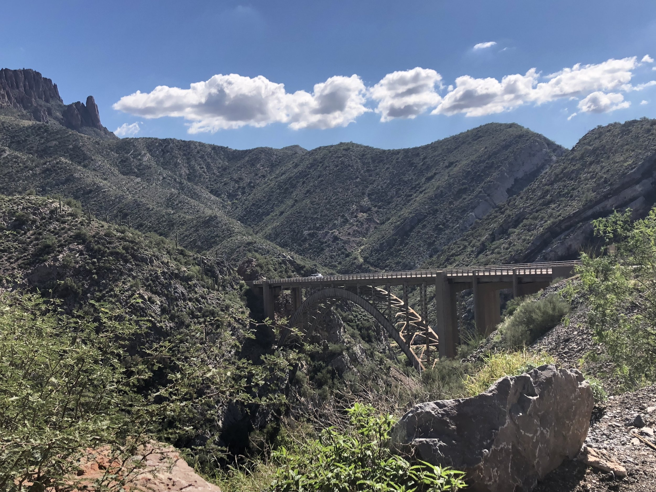 The bridge we road over.