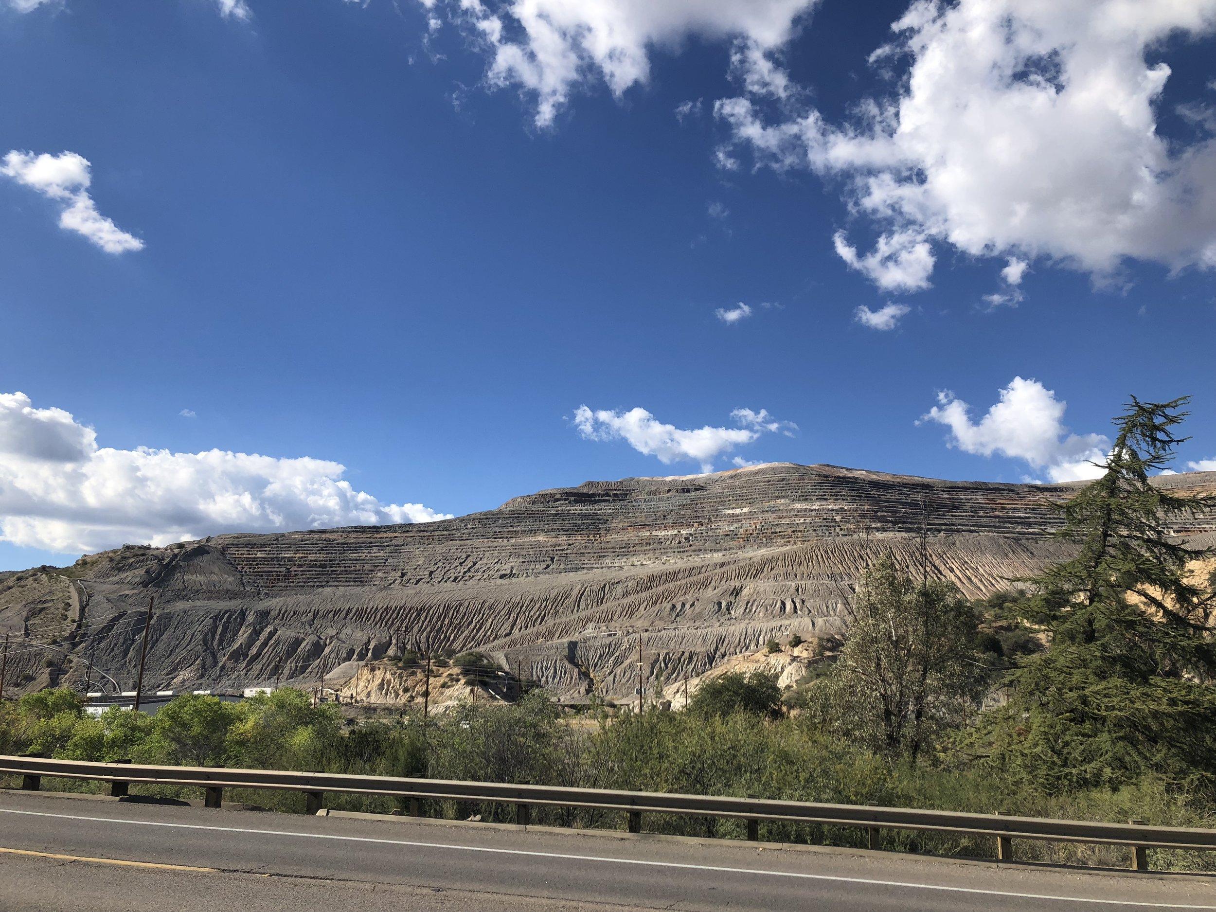 A copper mine we past.