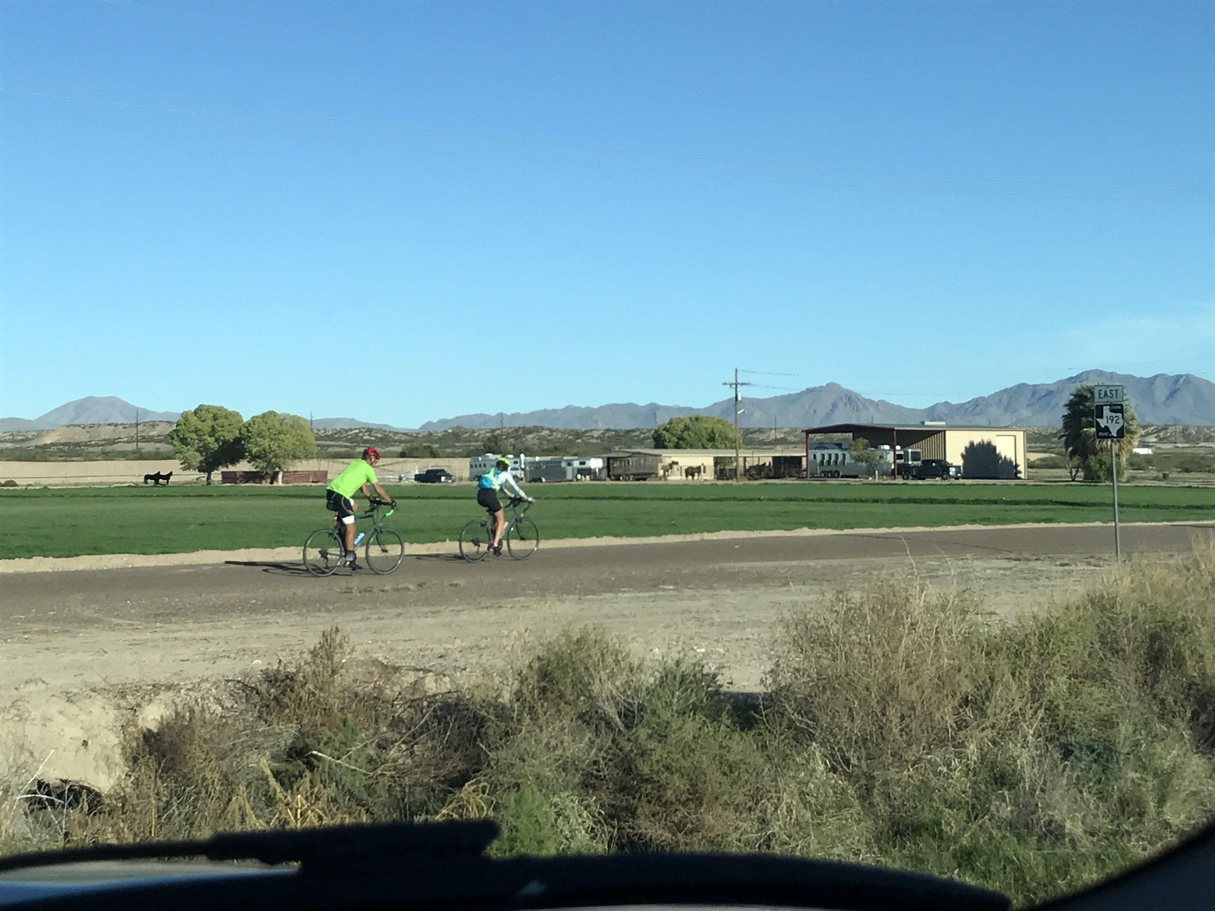 Riding past so alfalfa.