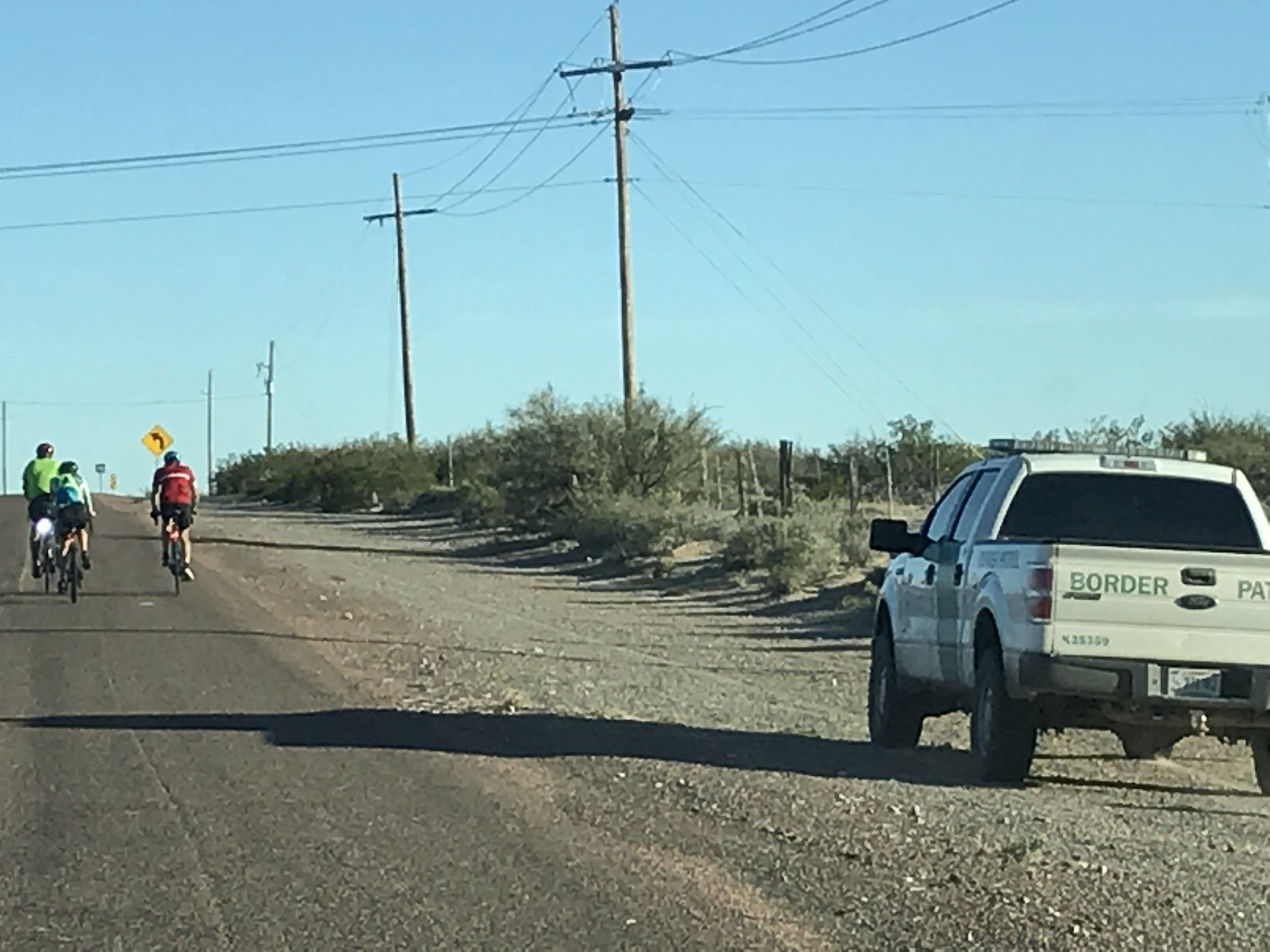 Riding along with boarder patrol.