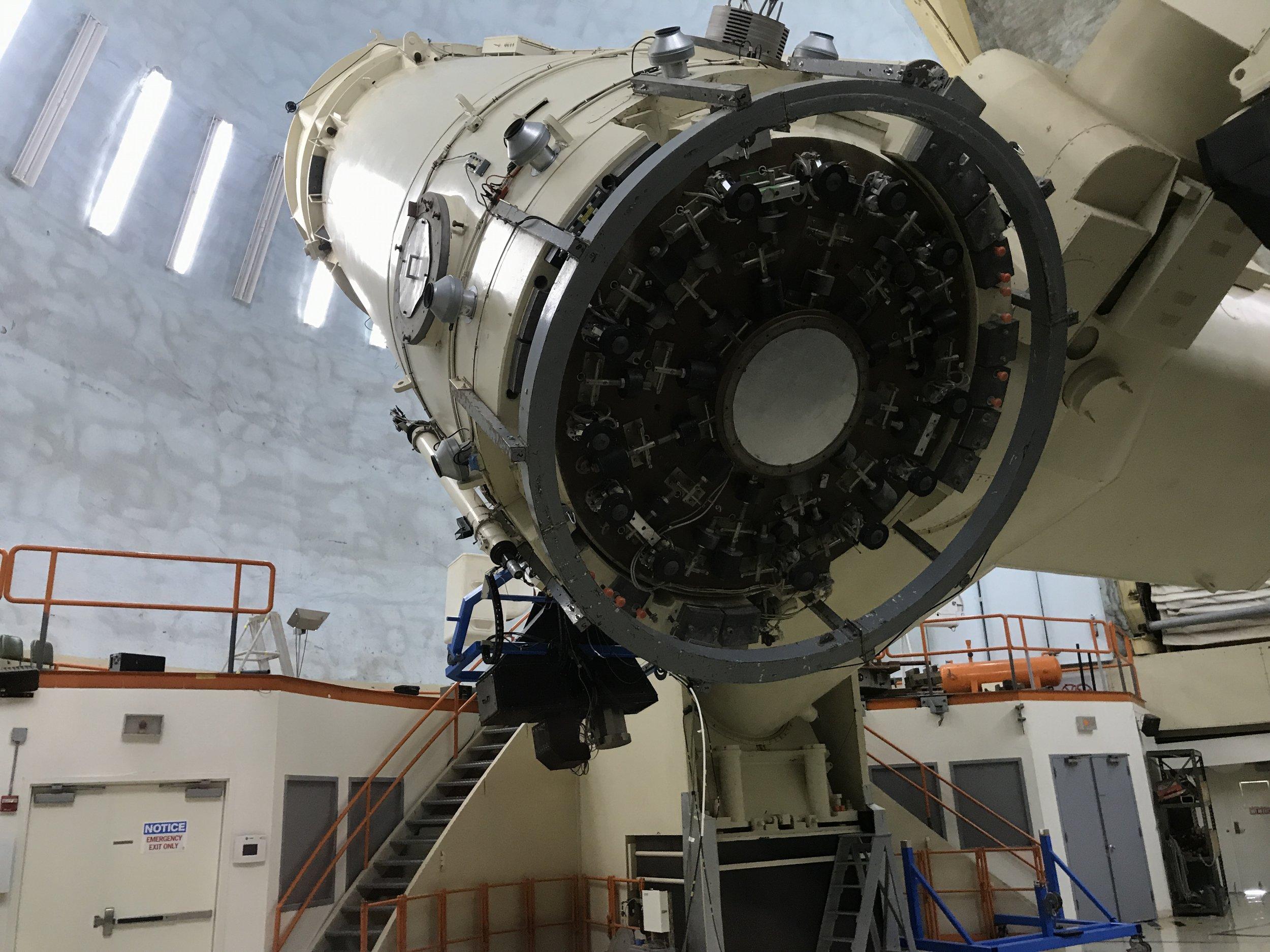 The telescope.