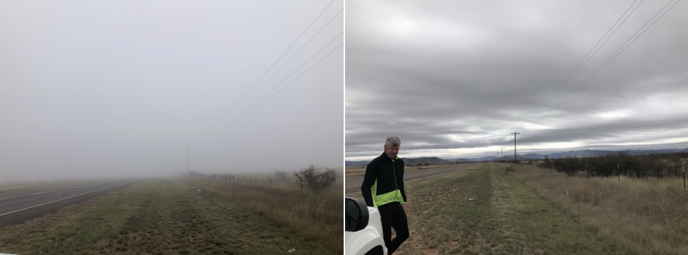 Before and after the fog.