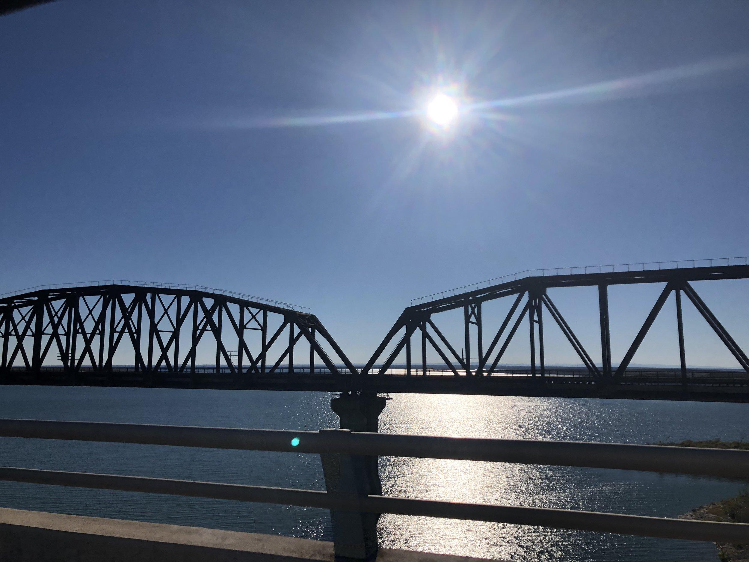 The bridge we drove across.
