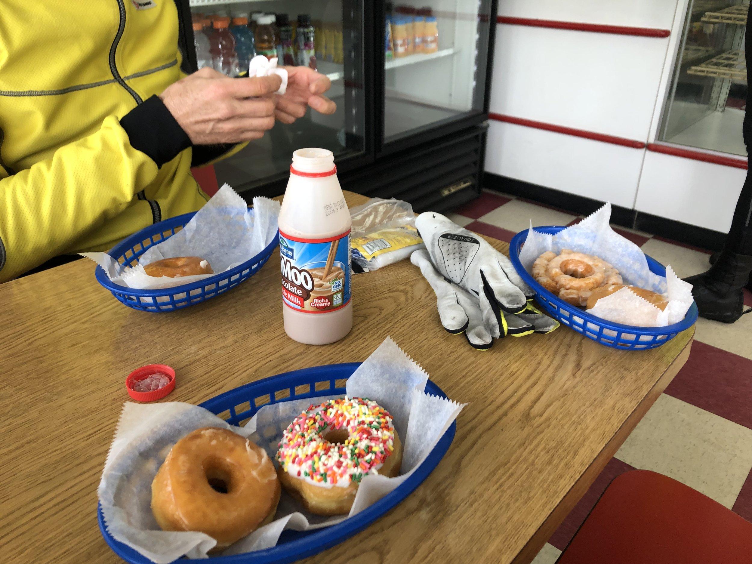 Quick donut break.