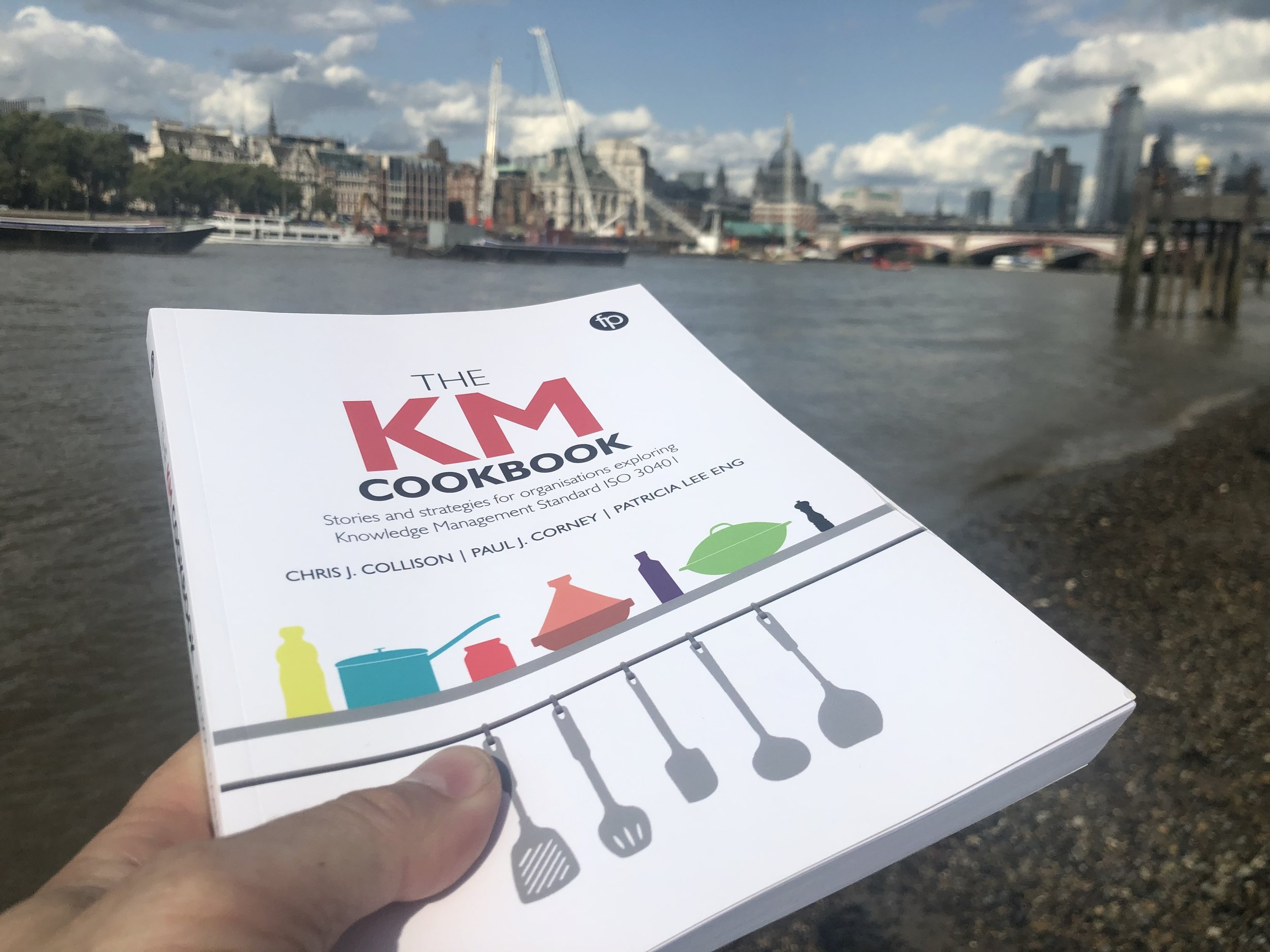 Publication day in London! Heading towards the City to start giving copies to our 'chefs'!!