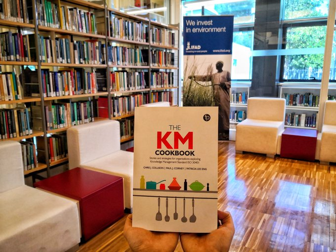 Here's the KM Cookbook out in the library at IFAD in Rome, courtesy of Laura Sollazzo and Helen Maree Gillman!