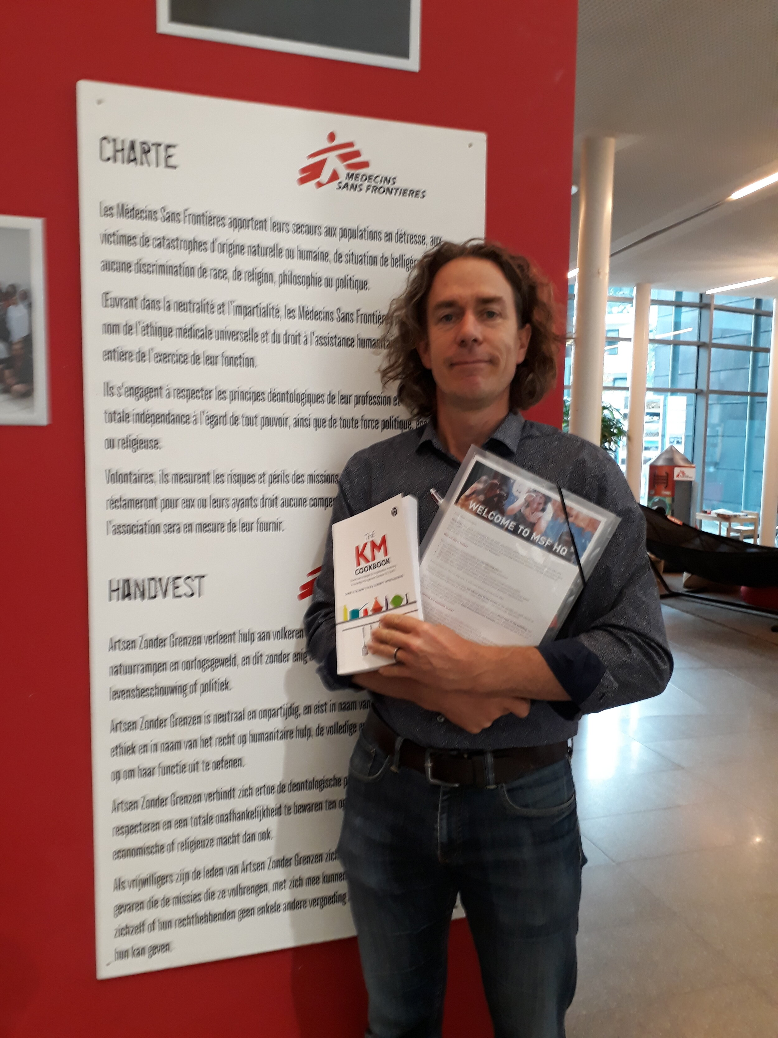 Here's Robin Vicent-Smith with the KM Cookbook - he's the featured chef at MSF!