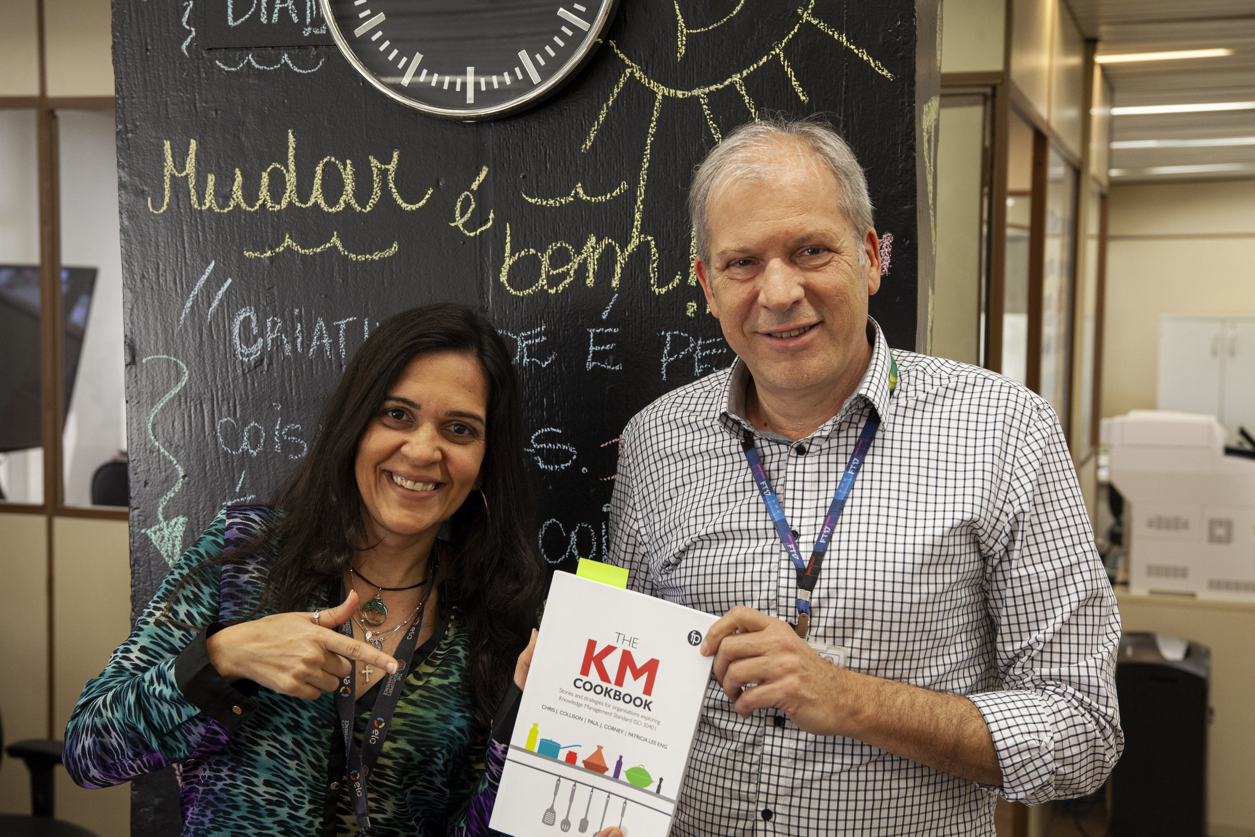 Luciana and Jaeger at Procergs in Brazil with their KM Cookbook…