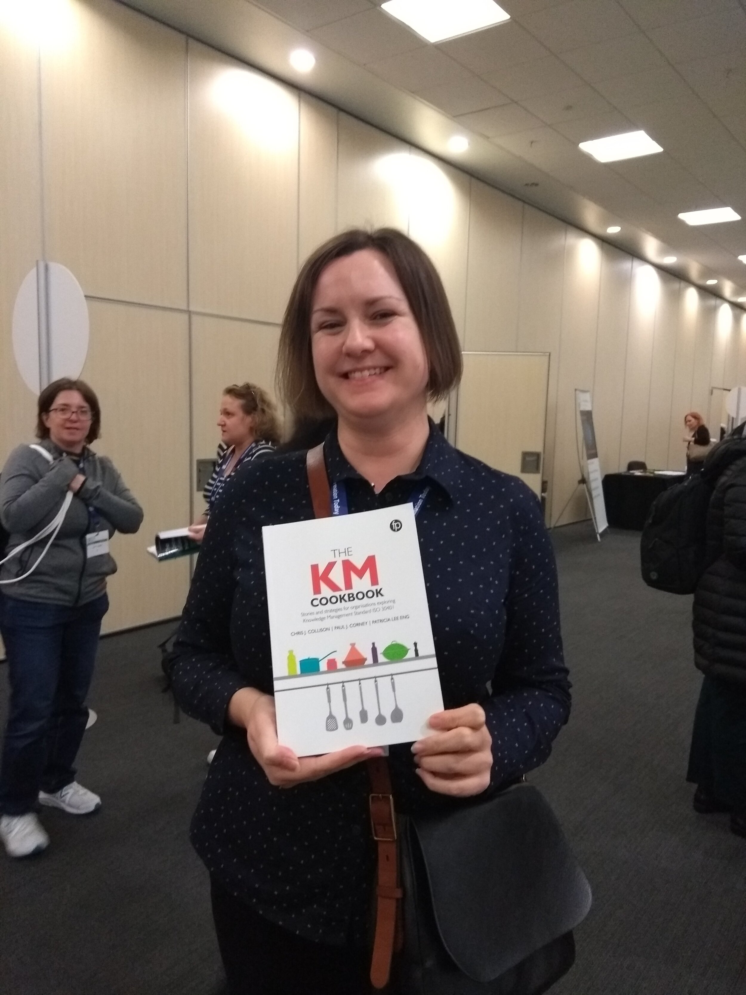 Emily Hopkins - recent winner of a KM Cookbook at the Internet Librarian conference…