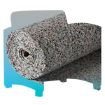 Unused Foam is shredded into soft carpet padding