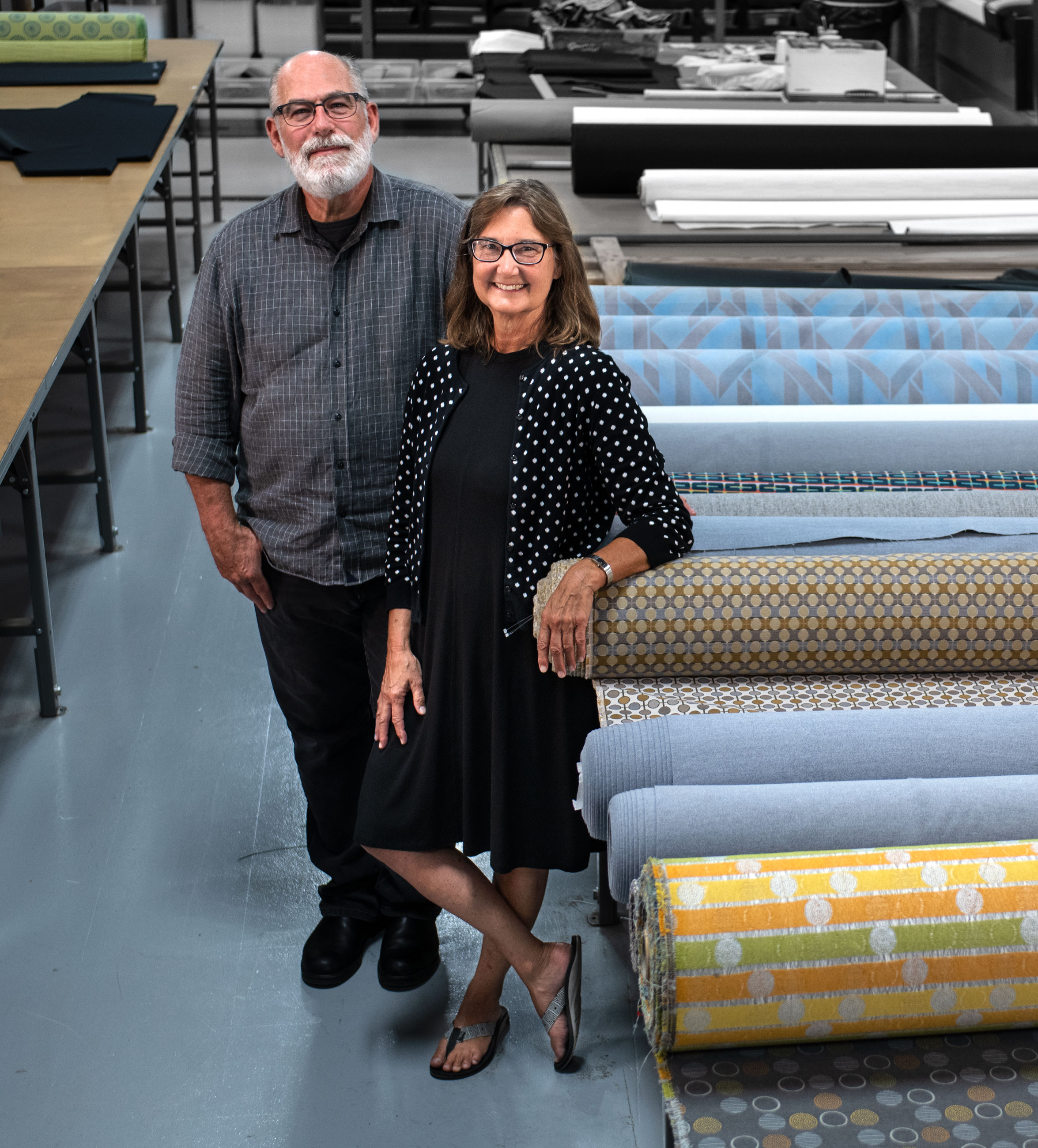 Brace and Brenda Wieland , founders and co-owners of  Transformations  Furniture.