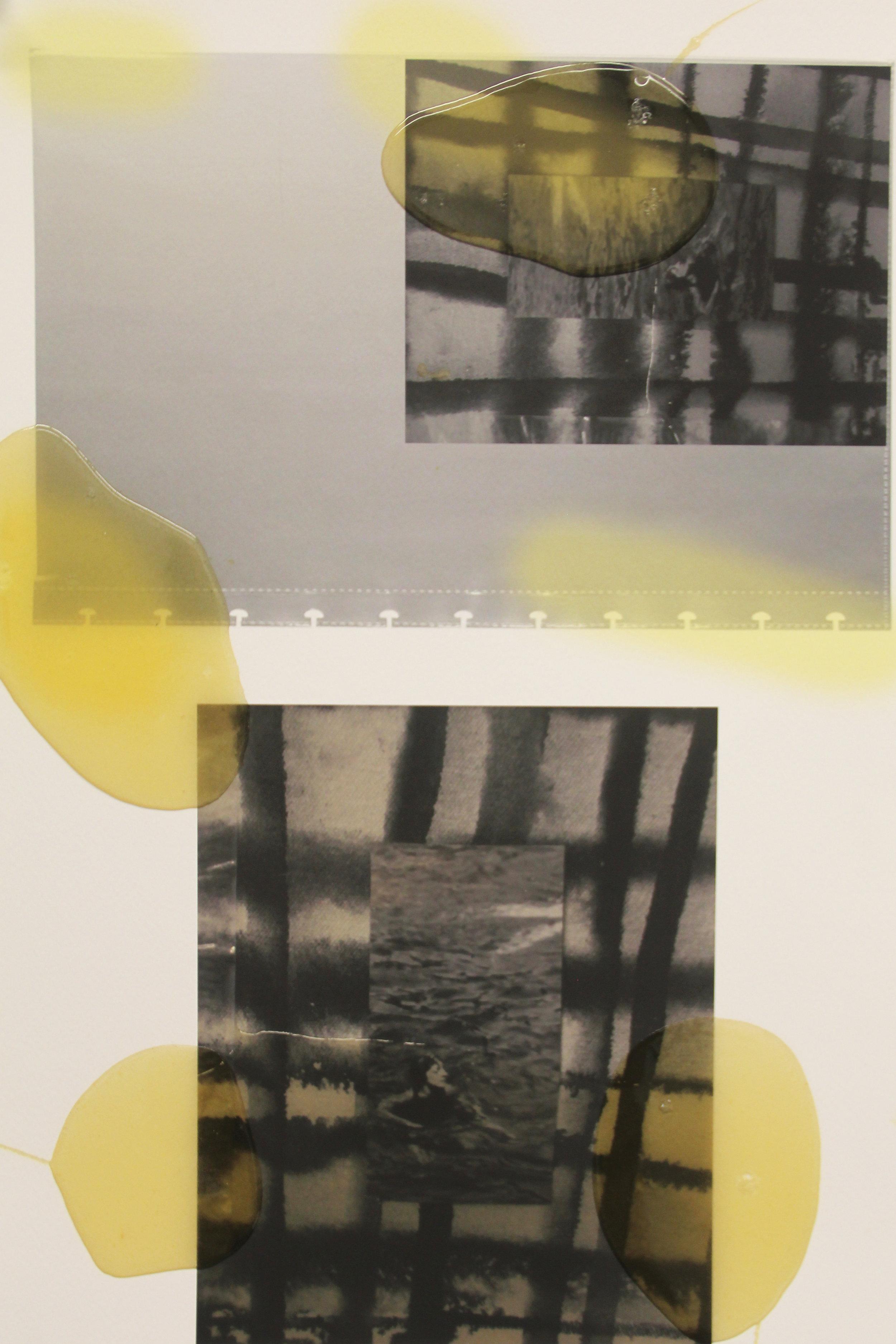2017  polyurethane rubber on digital print