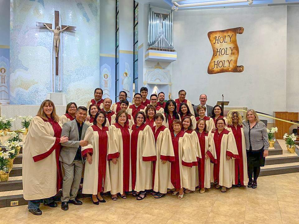 St. Joseph Husband of Mary choir with director Joseph Cruz and organist Barbara Finn