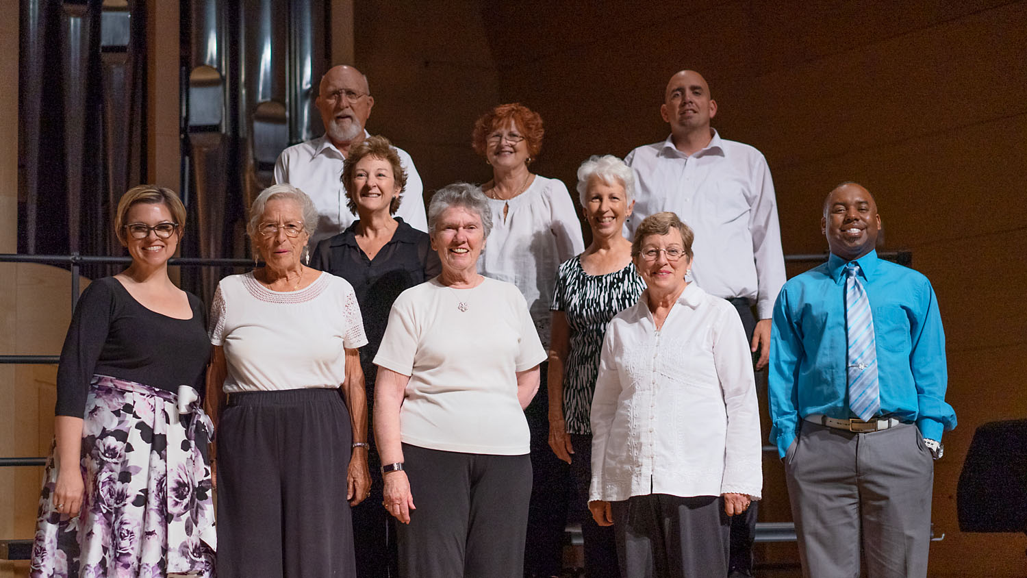 The Choir of Green Valley Presbyterian Church with organist Amy Homer Smith and director Kaymen Carter. PHOTO CREDIT: Dorothy Riess