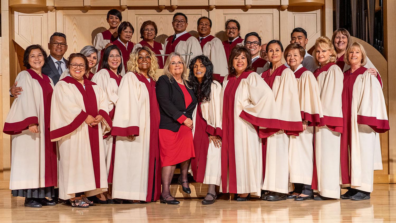 The St. Joseph, Husband of Mary Choir with director Joseph Cruz and organist Barbara Finn. PHOTO CREDIT: Dorothy Riess
