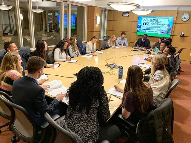 Each Wednesday, our fantastic spring government roster meets and organizes initiatives to enhance your student experience. #BigThings coming your way, Leeds!