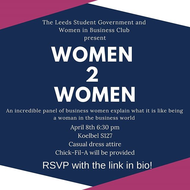 Join LSG and Women In Business Club this Monday at 6:30pm for free Chick-fil-A and a wonderful speaker event! Link in bio.