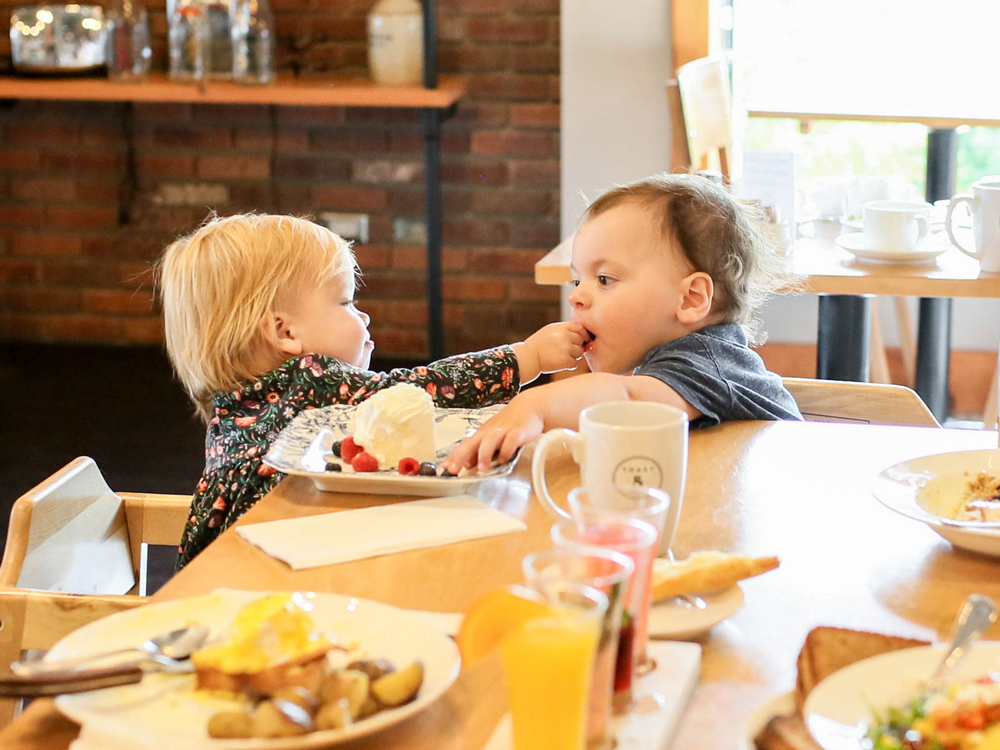 kids menu - Created with tiny mouths in mind these small but delicious meals will power up your kids so they're ready for the rest of the day.