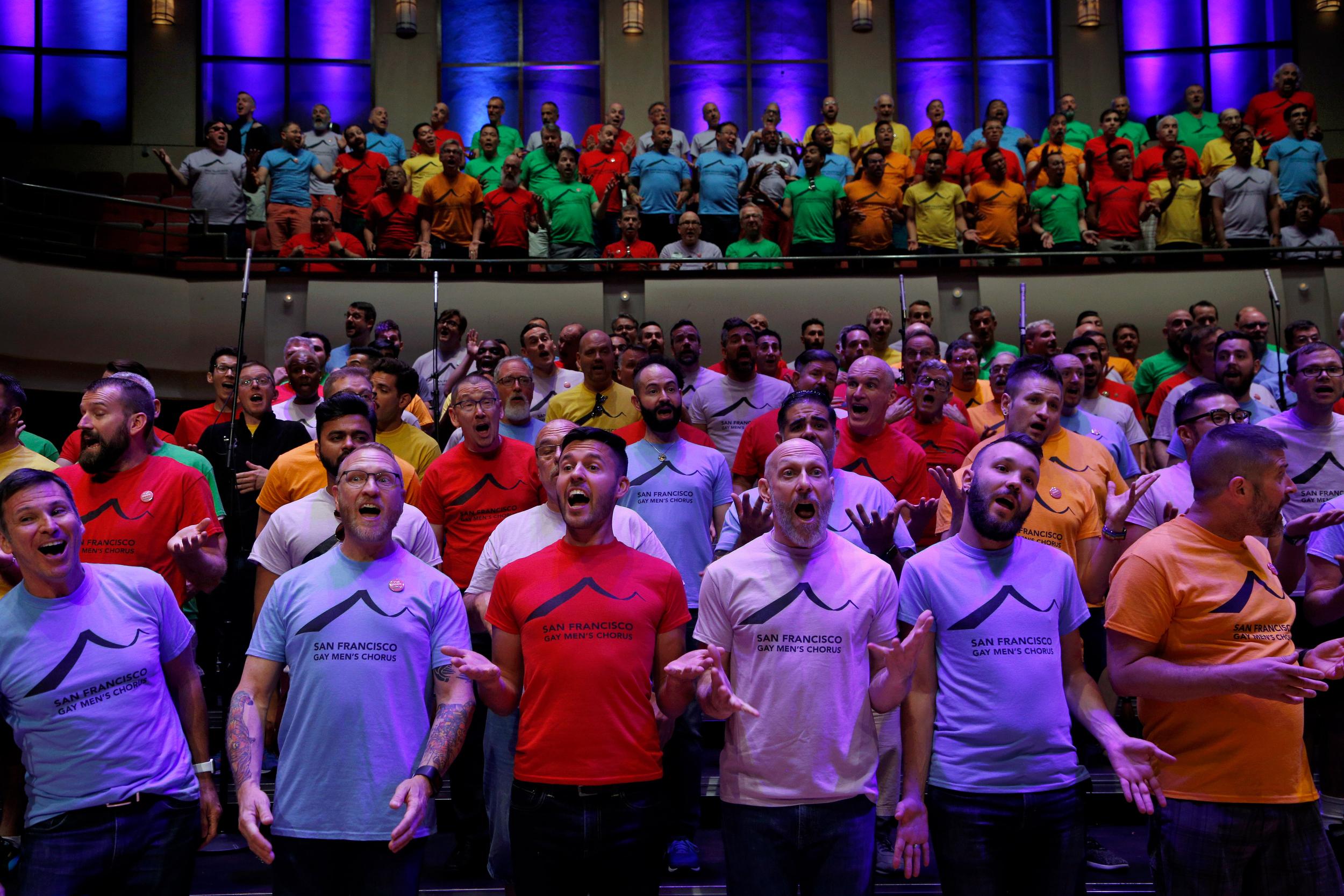 Gay Men's Chorus for California Sunday Magazine