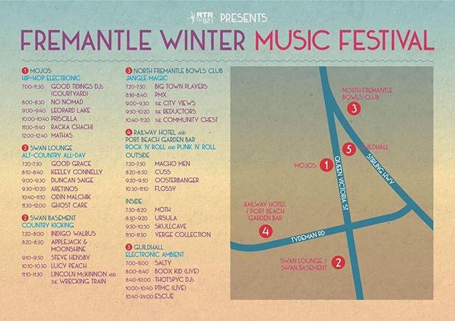 Festival! Tonight! Huzzah! #rtrwintermusicfestival #perthlivemusic #indiemusic #perthbands