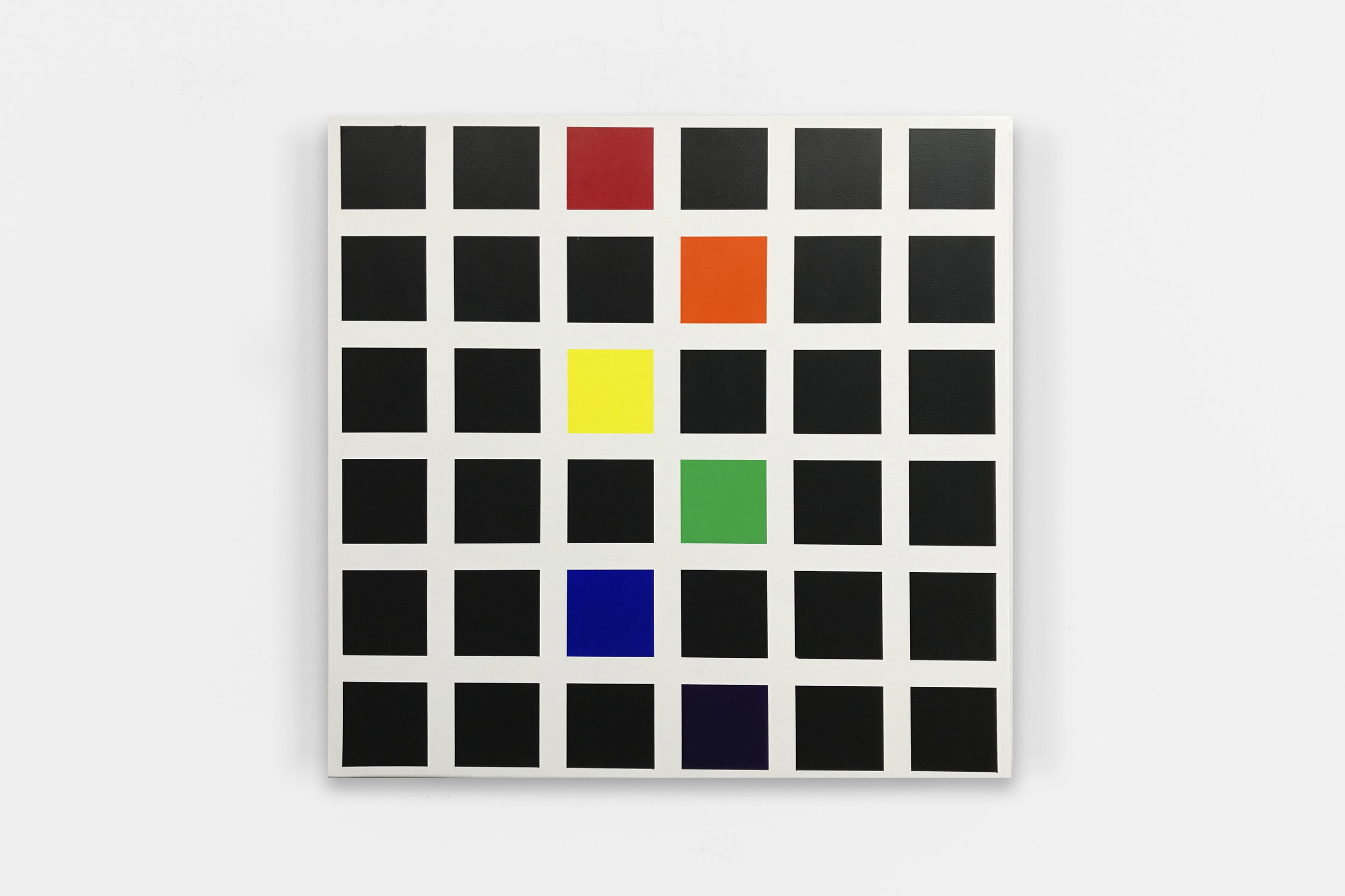 44408,  2017 Acrylic on canvas over panel 24 x 24 inches