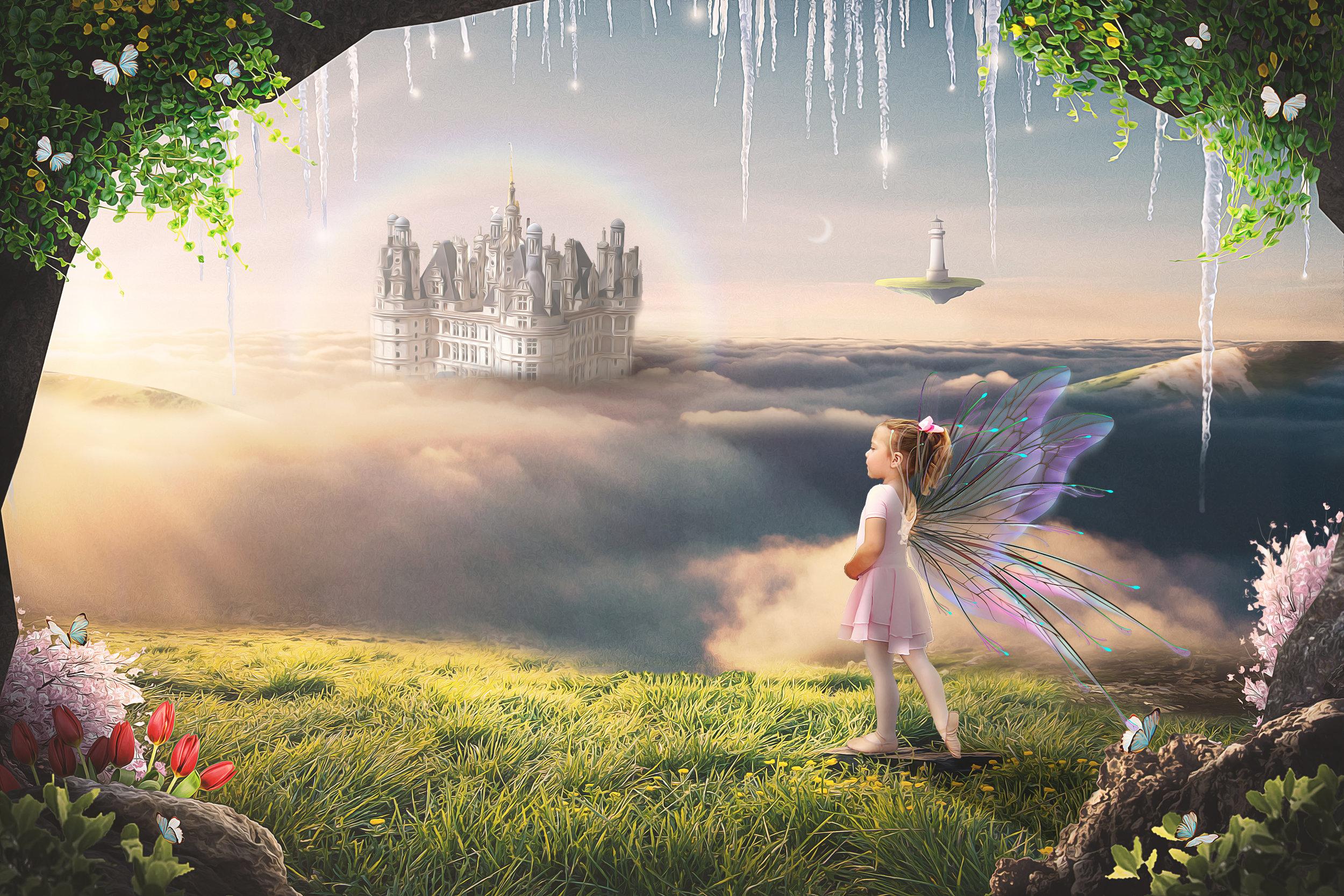 A fairy tending her garden.