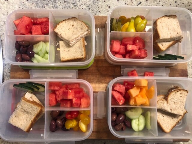 Nikkie's lunch prep