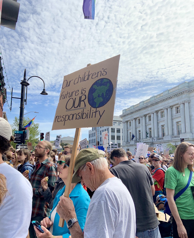 Burlington Climate Rally attendees.