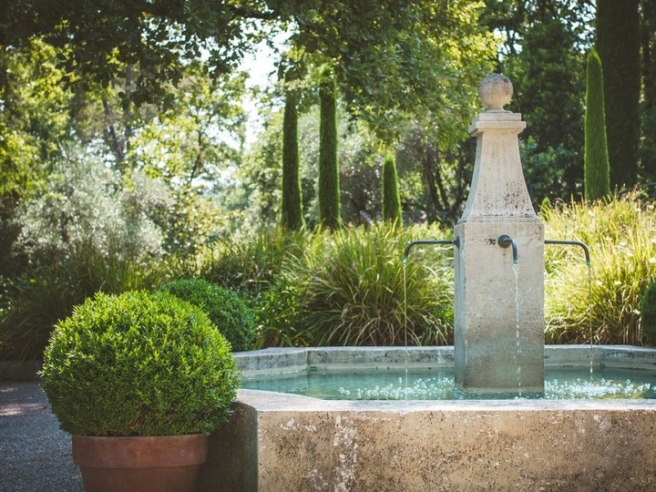 2. FLOWING WATER - cool the heat wave air and soothe your heat dazed brain with the sound of trickling water from a beautiful stone or pot fountain