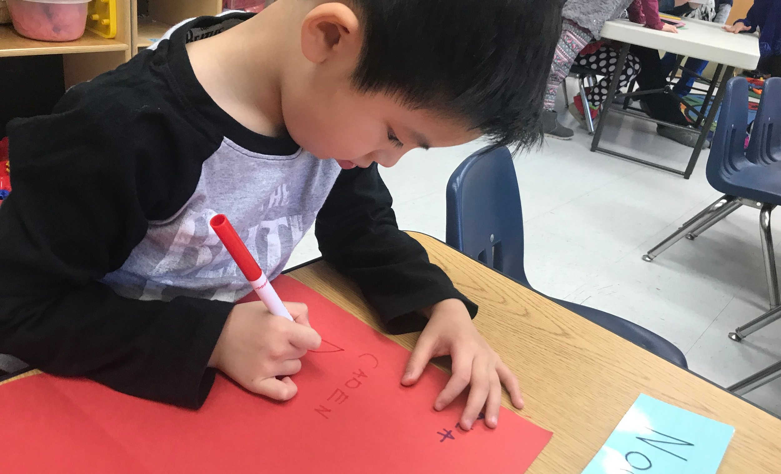 Early Writing - The early building blocks to writing are developed as we introduce children to letter shapes and sounds, and provide fine motor skills activities.