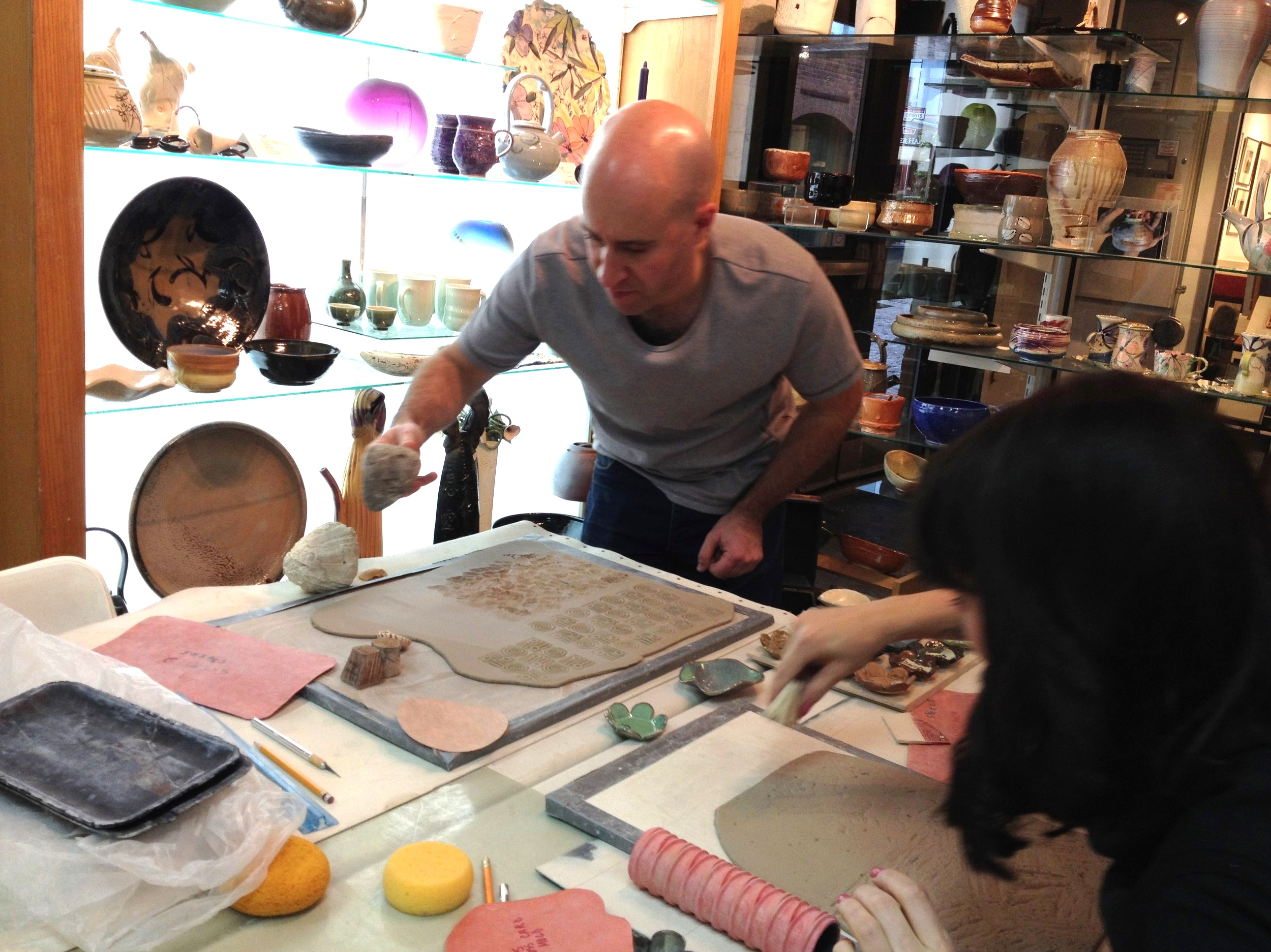 Tile Decorating Workshop.  Plan your ideas on paper before transferring your designs to 6 x 6 inch tiles.  Explore a variety of decorating techniques and learn to pour glaze over the surface of your tiles before the final firing.  .