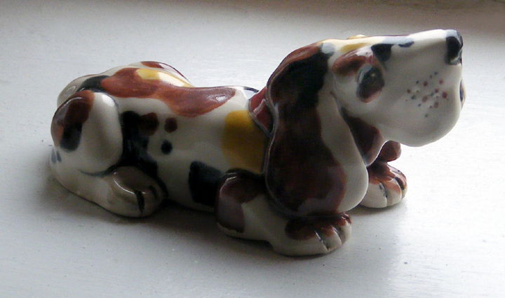 PUPPY by Janna Hiemstra  Janna's husband wanted a puppy, but working at Craft Ontario keeps her busy. So Janna sculpted, decorated and fired an adorable ceramic puppy for him at DISH GALLERY + STUDIO.