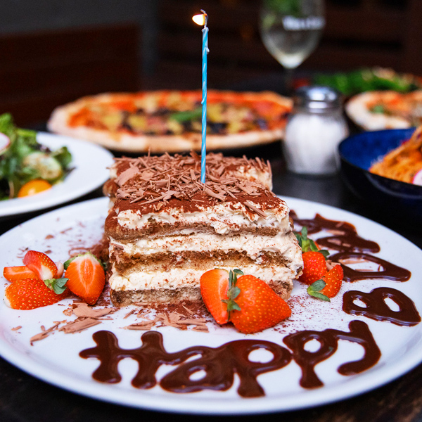 Get free tiramisu when dining at Vino for your birthday. Sign-up below to receive offers.