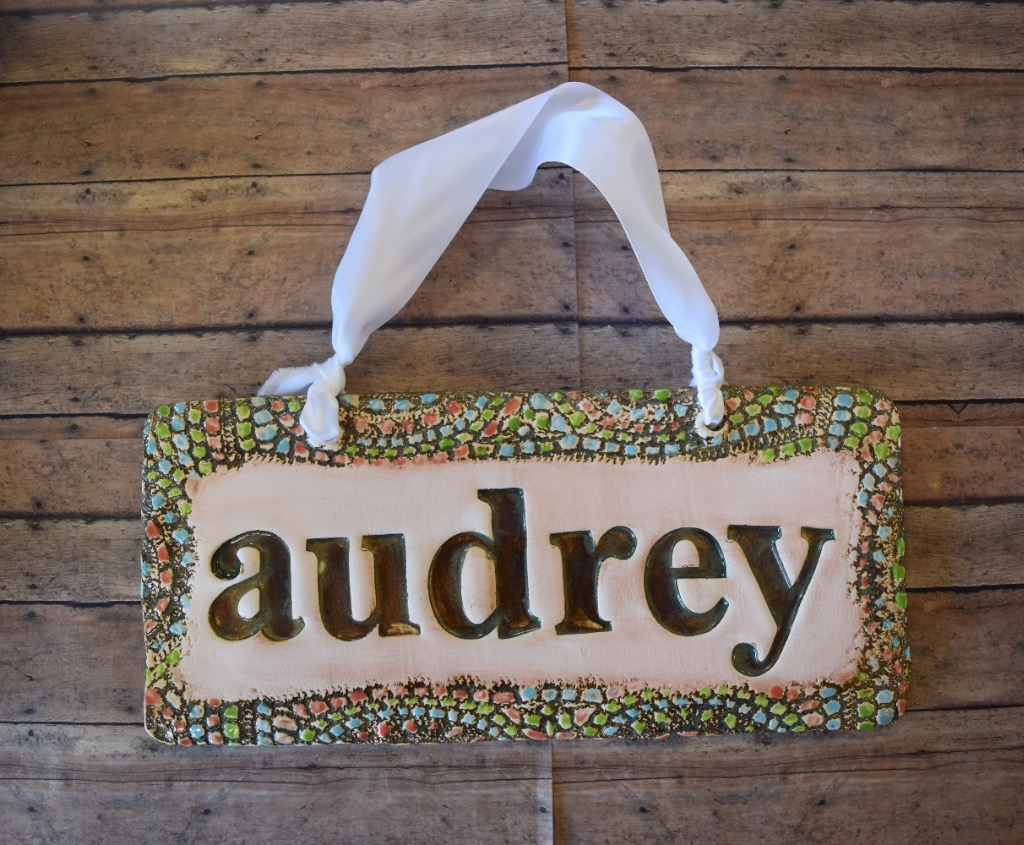 Baby Name Signs   Personalize your nursery space with one of our handmade baby name signs available in a variety of color combinations and designs.  Perfect baby shower gifts or gifts to self.