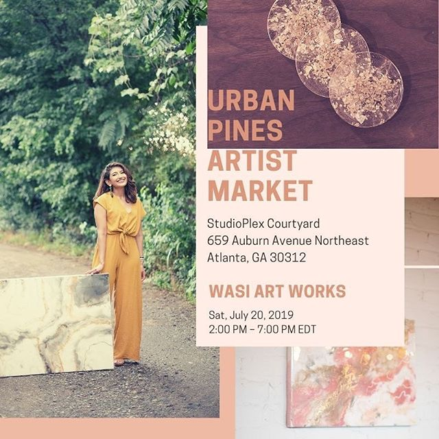 This Saturday I'll be part of @urban_pines No More Starving Artists market/festival/doggo friendly/food and music fun 🎡 selling prints, canvases, and my new coasters! •⠀⠀⠀⠀⠀⠀⠀⠀⠀ The link for ticket is in my bio and it's FREE and donation based! 🎨⠀⠀⠀⠀⠀⠀⠀⠀⠀ It will be at the  StudioPlex Courtyard off of Auburn Avenue from 2-7 THIS Saturday 👩🏻🎨 • • ⠀⠀⠀⠀⠀⠀⠀⠀⠀ I was so excited to be accepted into this market because of the concept of No More Starving Artists was created by Urban Pines out of the desire to bring exposure to Atlanta's local artists. They aspire to give a platform for local musicians and creatives to showcase their talent + art to our Atlanta neighborhoods without cost. This is a non-profit event, all donations will be given back to the performers and artists!  I hope to see you all there! Xoxo ⠀⠀⠀⠀⠀⠀⠀⠀⠀