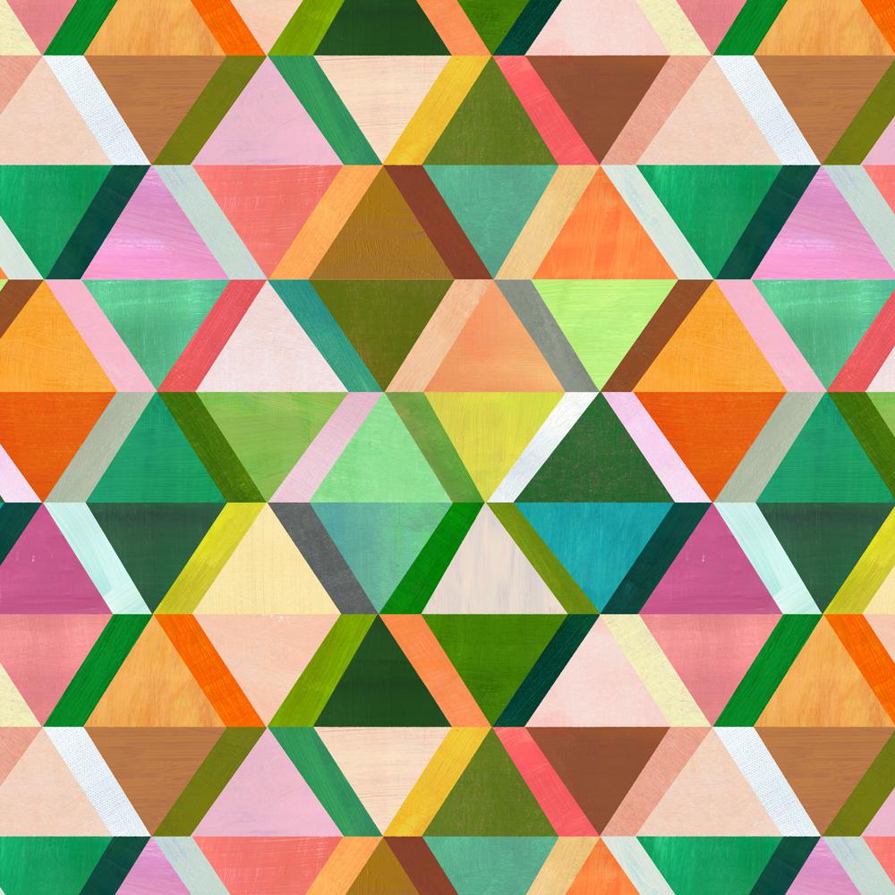 triangle rhombus pattern