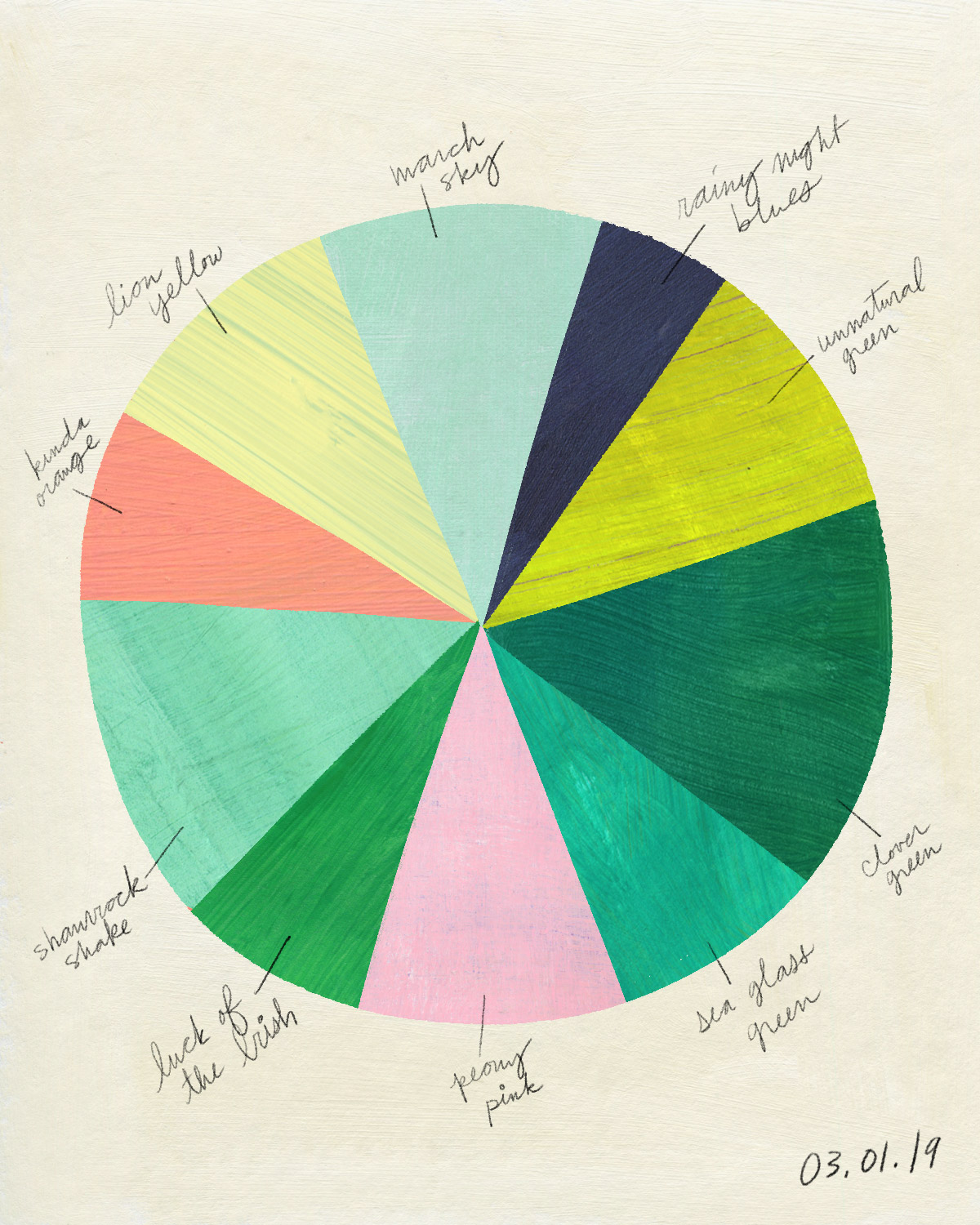 March Color Wheel