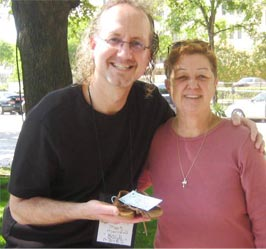 "Mark with Norma McCorvey Former ""Roe"" of Roe vs. Wade"