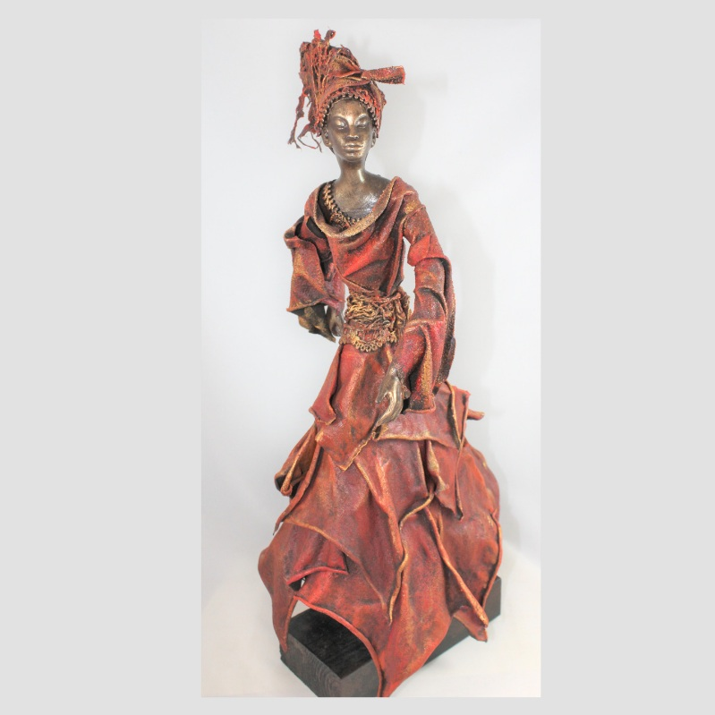 """Lady in Rags Weekend Workshop 10 & 11August 2019 - Powertex Weekend Workshop: $195: Saturday 9am to 4pm & Sunday 10am to 1pmA one and a half day workshop where you get to create this awesome sculpture using Powertex products. Day one we build, dress and layer her clothing, learn to drape your fabric perfectly. You will also learn some new techniques using Powertes. On day two we embellish her in the colour of your choice.All materials and tools provided.Bring your own lunch and snacks; biscuits and refreshments are available.Remember to wear clothing you do not mind getting dirty or bring your own apron.Click on """"Link to Bookings Page"""" , spaces are limited, or email me if you wish to do a Bank Transferhttps://www.trybooking.com/BCMVQ"""