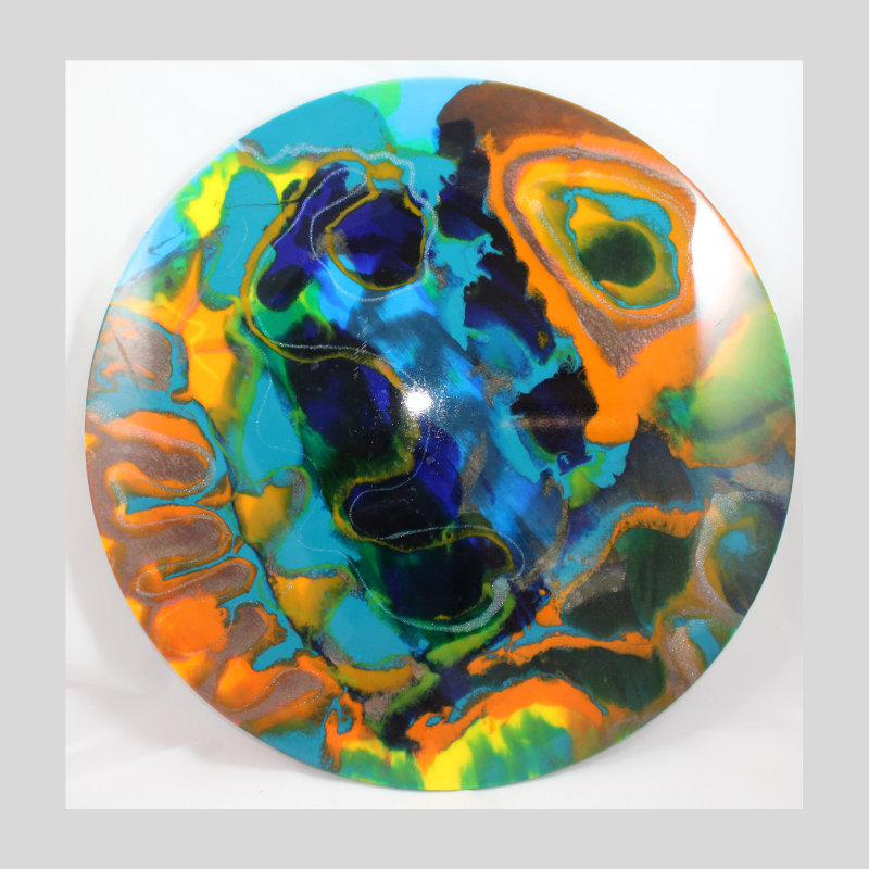 """Resin Pour Workshop 14 September 2019 - Workshop : $185: 9.30am to 2.30pmCome and enjoy a workshop using local resin from U-Resin to make an artistic statement. You can choose from a 60cm round or 60cm square form to create on. Let your imagination go, swirl or just blob on.You will get to use U-Resin and colour pigments from their range, be prepared to experiment with colour, includes glitter paste, and metallic colours.All materials and tools provided. There will be blow torches & heat guns in use on the day, all well supervised and help on hand to assist you. Safety equipment will be provided as well.Light snacks, biscuits and refreshments are available.Remember to wear clothing you do not mind getting dirty or bring your own apron.Click on """"Link to Bookings Page"""" , spaces are limited, or email me if you wish to do a Bank Transferhttps://www.trybooking.com/BBZHZ"""