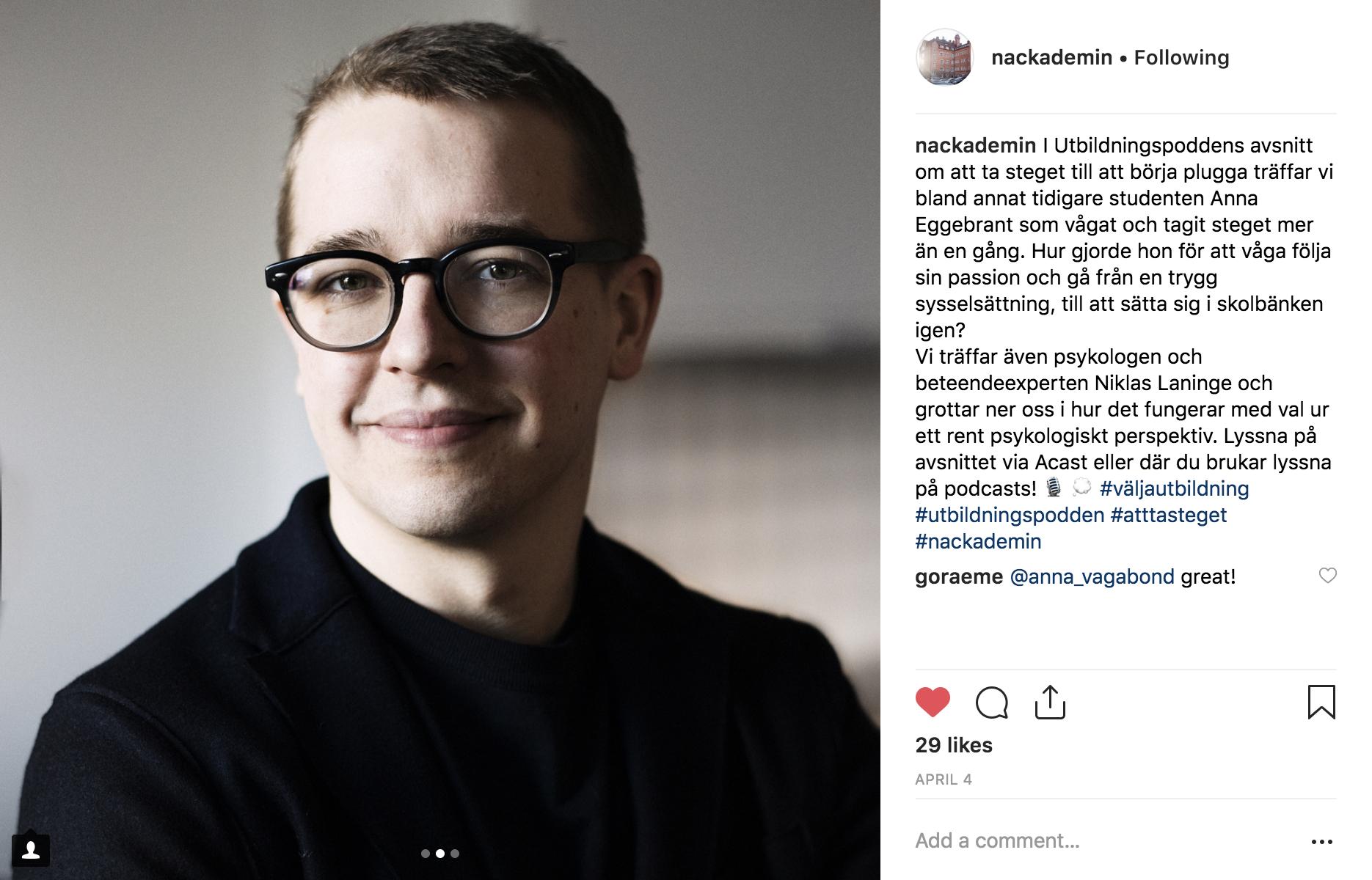 Niklas Laninge i Utbildningspodden #1 om att våga välja av Nackademin och Flip-Flop Interactive