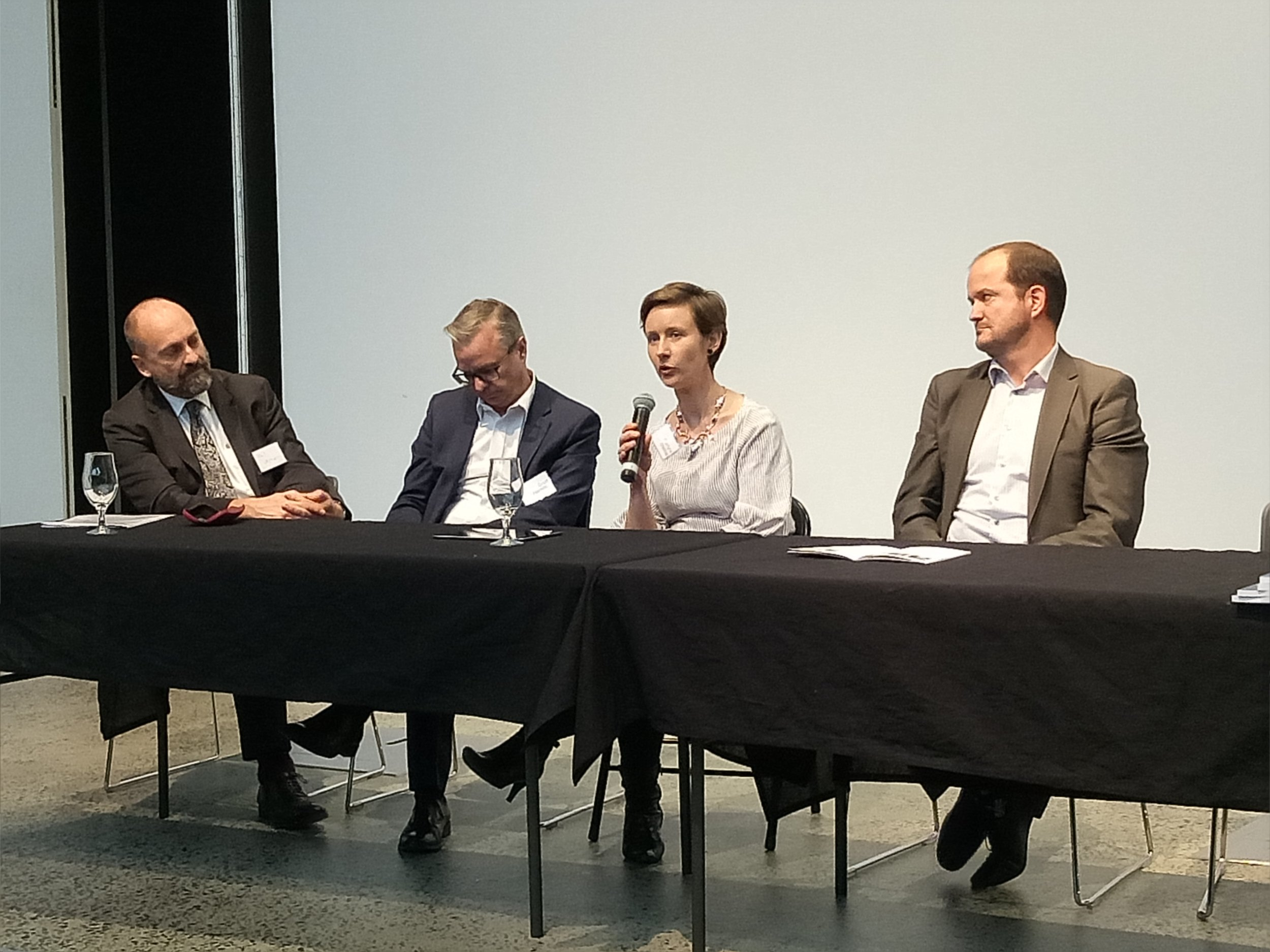 Panel discussion 'Investment and Finance' - Phil Vernon, Scott Hamilton, Marilyne Crestias, Scott Bocskay.