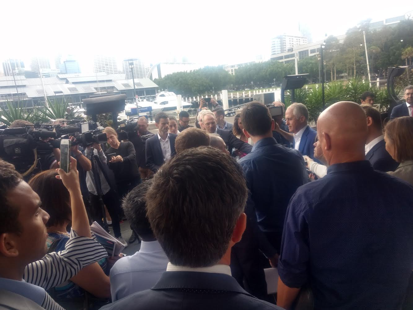 Malcolm Turnbull was popular inside and outside the Summit!